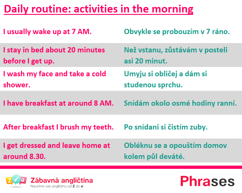 daily routine morning
